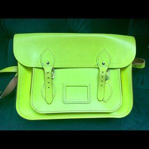 Neon Yellow Cambridge Satchel Bag